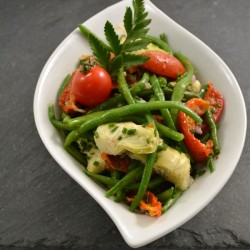 Haricots verts Tomates...